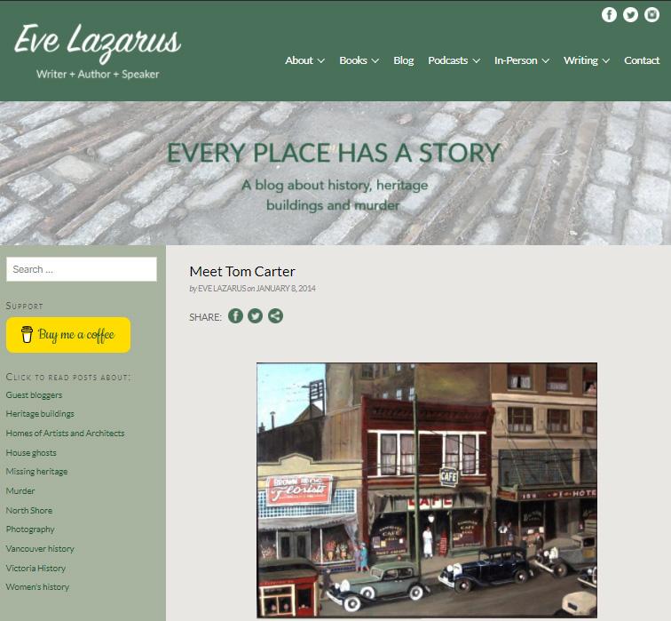 Eve Lazarus Blog